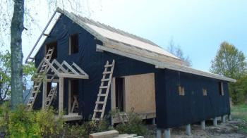 Строительство загородного дома за 25 дней